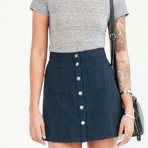 BDG Urban Outfitters • snap front mini skirt